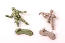 Broken Plastic Toy Soldiers On...