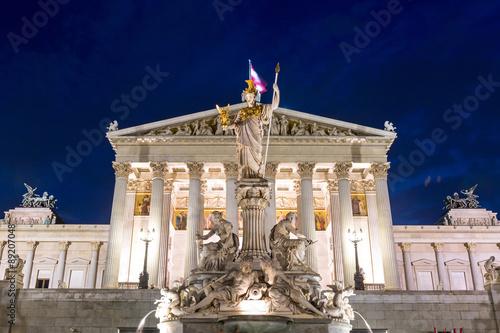 Parliament Vienna austria night