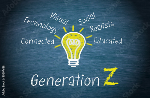 Generation Z - Marketing and targeting concept