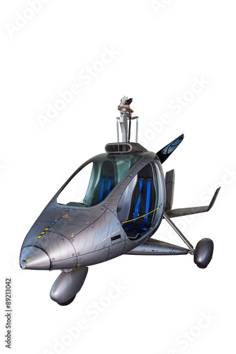 Foto op Canvas UFO Futuristic helicopter-isolated