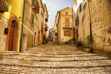 Kleurrijk Straatje In Casacalenda, Italie