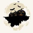 Leinwandbild Motiv Grunge Background for Halloween Party