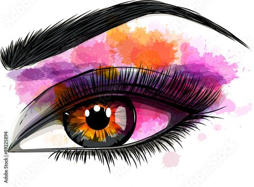 Stampa su Tela occhio colorato