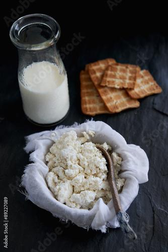 Fotografie, Obraz  Handmade ricotta cheese