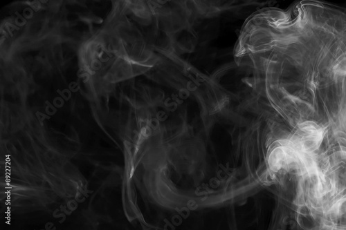 Deurstickers Rook Abstract smoke on black background