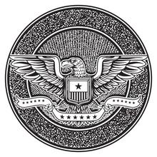 Vintage American Badge Emblem