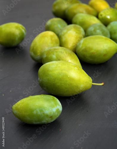 Fotografía  green plums