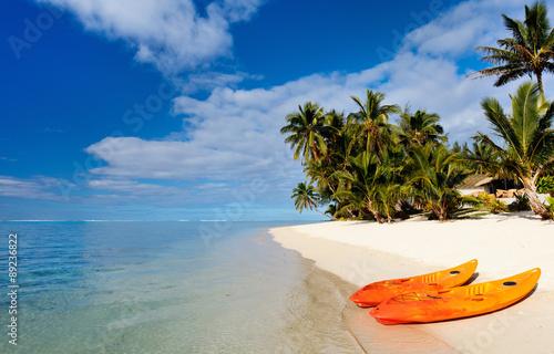 Fényképezés Beautiful tropical beach at exotic island in Pacific