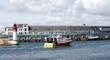 chalutier dans le port de pêche du guilvinec,bretagne