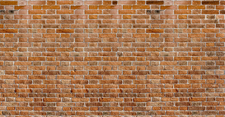 Red brick wall texture panoramic