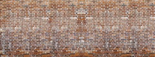 Obraz Red brick wall texture panoramic - fototapety do salonu