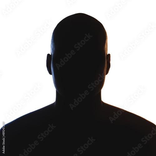 Unknown male person silhouette. Tablou Canvas