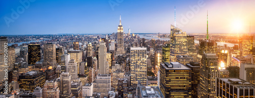 Manhattan New York Skyline Panorama