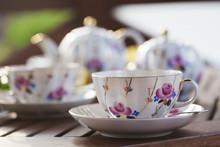 Tea Set On Terrace