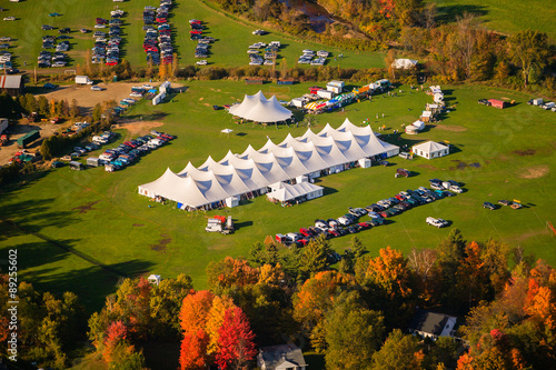 Fotografie, Obraz  Aerial view of event tent in Vermont.