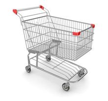 Metal Shopping Cart - Isolated...