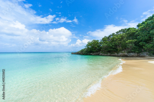Foto op Canvas Tropical strand Secluded tropical beach with clear water, Ishigaki Island, Japan
