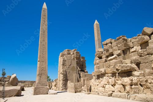 Obelisk of Queen Hapshetsut in Karnak, Egypt Canvas Print