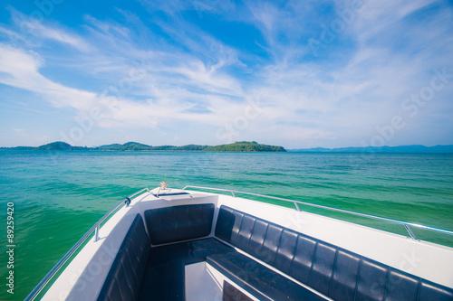beautiful seaview from speedboat