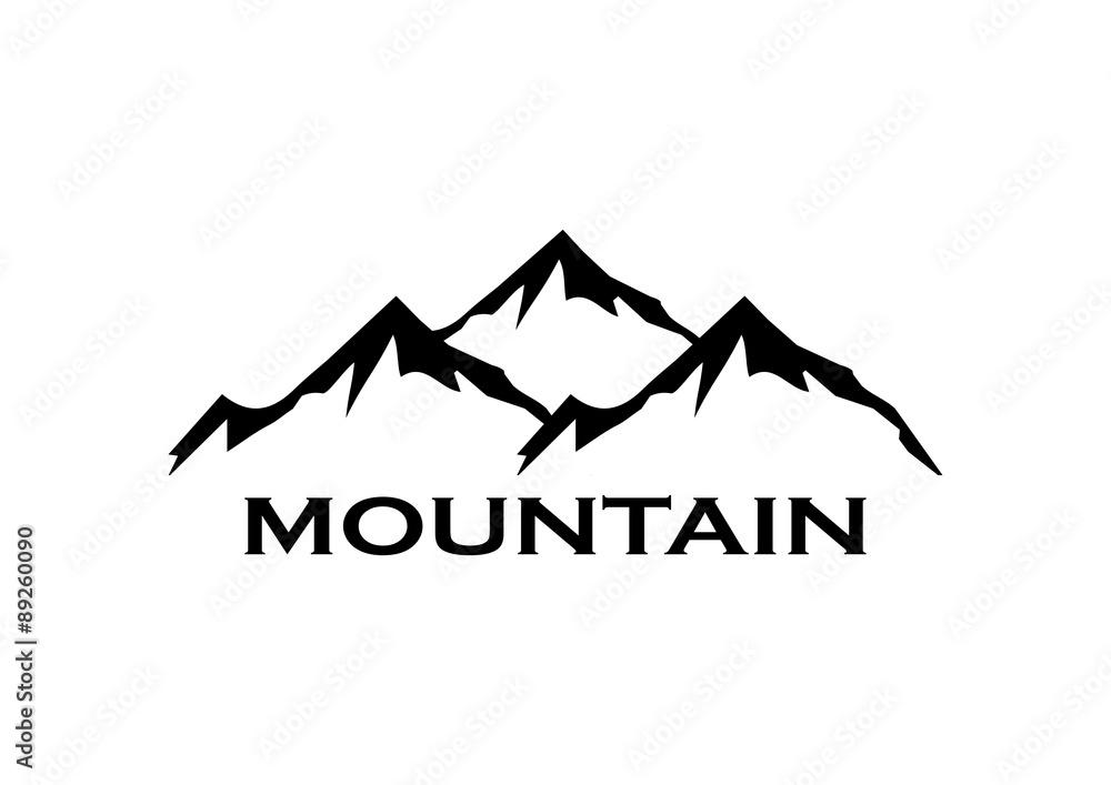 Fototapety, obrazy: Mountain Symbol