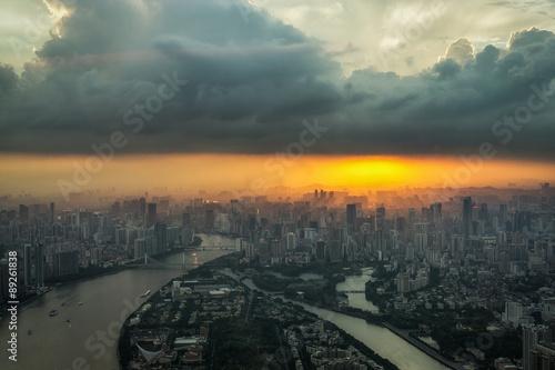 Fotografie, Tablou  Canton tower observation deck