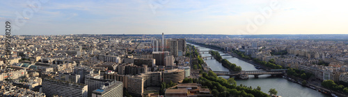 Aluminium Prints Paris panorama de la vue sur le sud de paris depuis la tour Eiffel
