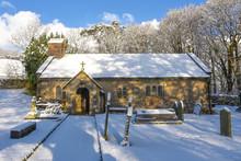 Chapel-le-dale Chapel Winter Scene In Yorkshire Dales National Park.