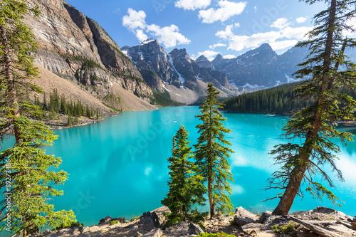 In de dag Canada Moraine lake