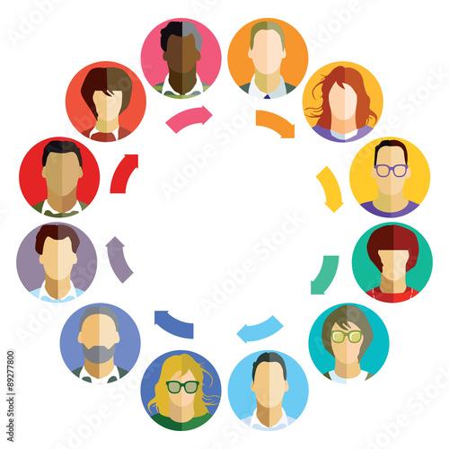 Fotografie, Obraz  Konzept für Business-Teamarbeit, Brainstorm