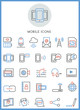 Mobile icons set vector design