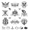 Car service Labels, Emblems and Logos