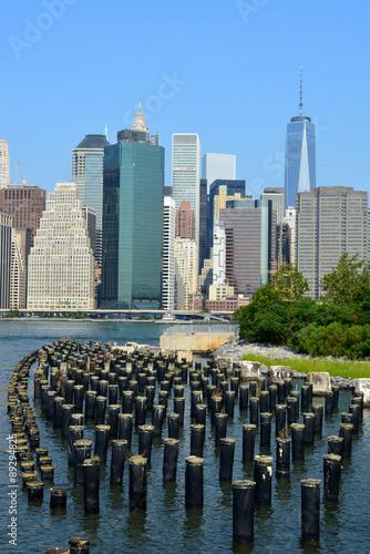 Lower Manhattan skyline. Poster
