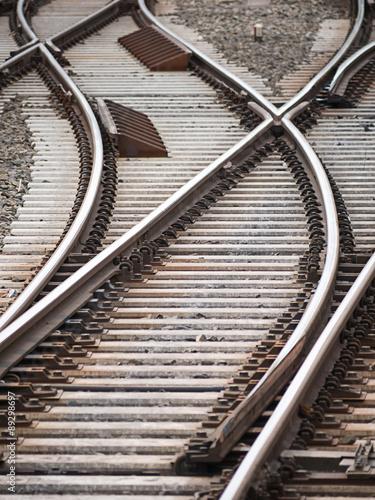 Photo Stands Railroad Weiche