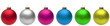 canvas print picture - Christmas Balls