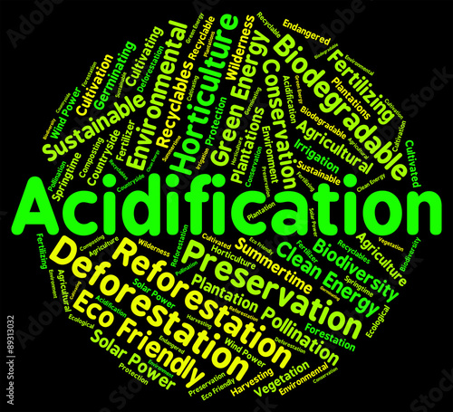 Acidification Word Indicates Text Ph And Environment Canvas Print