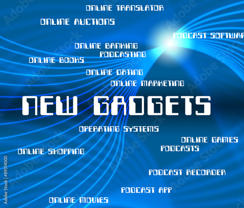 Photo  New Gadgets Indicates Up To Date And Devices
