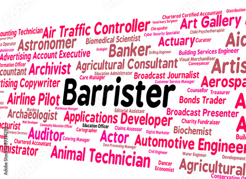 Barrister Job Means Counselor Text And Lawyers - Buy this stock