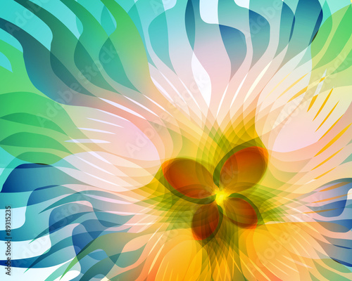 Fantasy colorful flower - 89315235