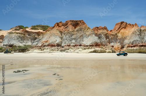 Fotografie, Obraz  Praia de Morro Branco, Ceará, Brasil