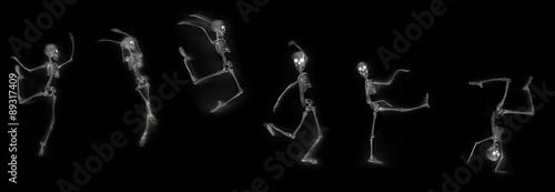 Fotografie, Obraz  Dancing Skeleton X-Ray