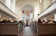 Leinwandbild Motiv Hochzeit in der Christuskirche in Mönchengladbach