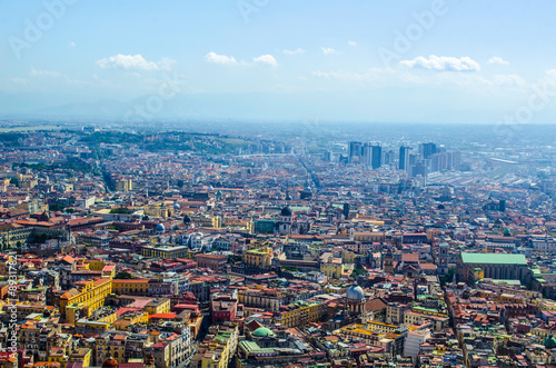 In de dag Rio de Janeiro napoli from castel sant´elmo. City is famous for its historical center with narrow streets and for castel dell´ovo and nuovo, church of saint francesco di paola and teatro san carlo.