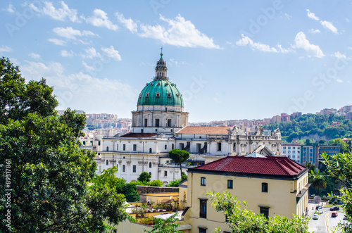 Fotografie, Obraz  aerial view of the church of madre del buon consiglio