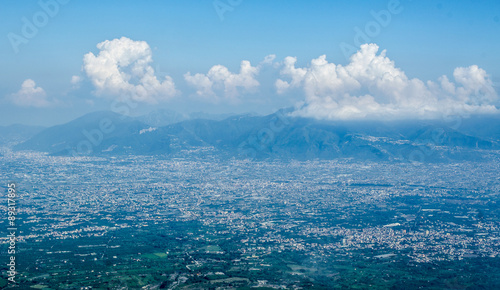 Foto auf Gartenposter Wasser Aerial view of a countryside around Mount Vesuvius and Bay of Naples, Italy