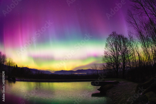 Photo  Uncommon Aurora Borealis in Vermont.