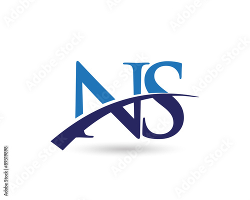 Ns Logo Letter Swoosh Buy This Stock Vector And Explore Similar
