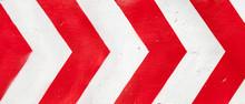 Red And White Grunge Warning S...