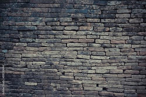 Foto op Plexiglas Historisch geb. brick wall texture with filter effect retro vintage style
