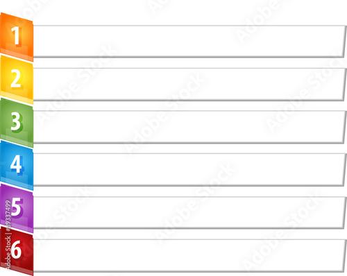 Photographie  Slant Items Six blank business diagram illustration