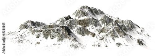 Snowy Mountains - Mountain Peak - separated on white background #89338847